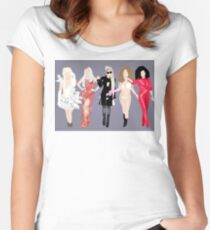 Gaga's eras. Women's Fitted Scoop T-Shirt