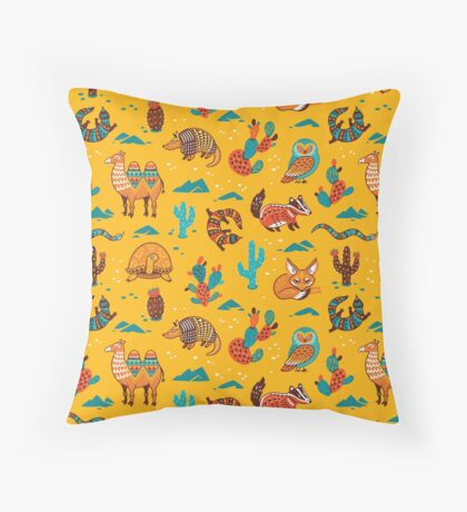 Desert animals Throw Pillow