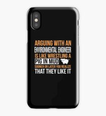 ENVIRONMENTAL ENGINEER ARGUE WITH iPhone Case/Skin