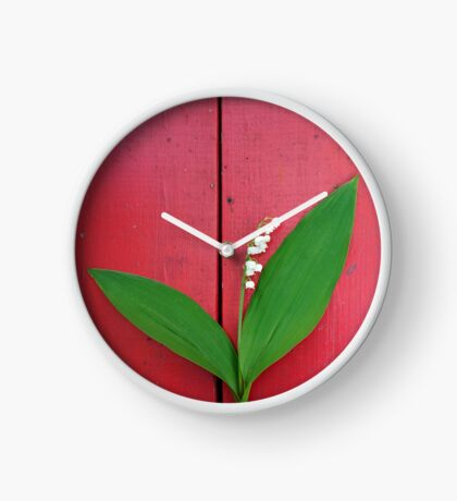 Lily of the Valley on Red Clock