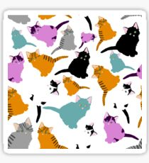 little cats pattern Sticker