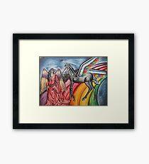 Girl & Unicorn Framed Print