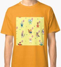 Birthday Celebration Seamless Pattern with Cute Animals Classic T-Shirt