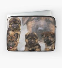 German Shepherd Puppy Collage Laptop Sleeve