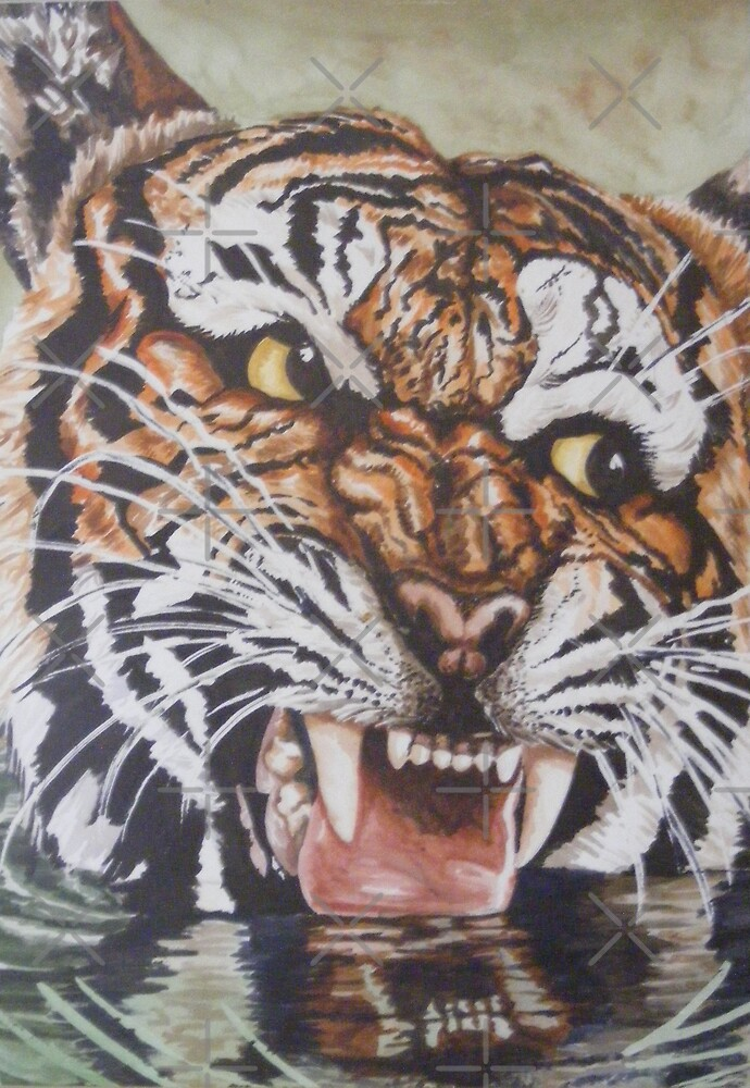 tiger wildlife portraite by dnlddean