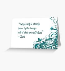 Rumi Love Quote Greeting Card
