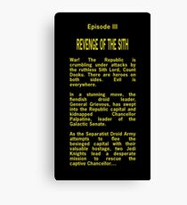 Episode III Opening Crawl Text Canvas Print