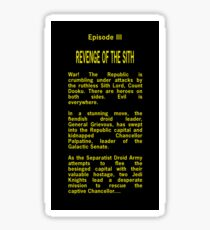 Episode III Opening Crawl Text Sticker