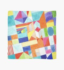 Playful Colorful Architectural Pattern  Scarf