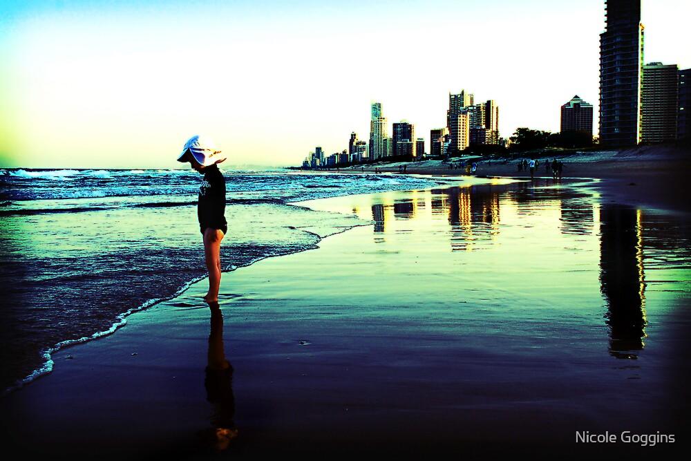 Reflecting on Main Beach by Nicole Goggins