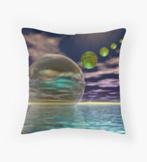 Night invasion of the spheres Throw Pillow
