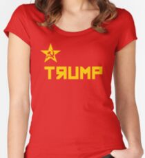 trump CCCP Russian Flag Women's Fitted Scoop T-Shirt