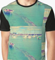 Boat in the harbour Graphic T-Shirt