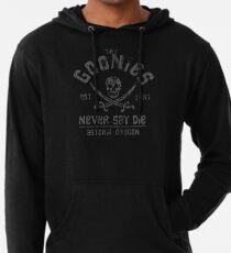 Sudadera con capucha ligera Los Goonies - Never Say Die - Gris sobre negro