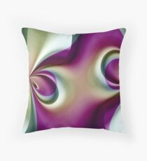 Fractal Petal Dancer Throw Pillow