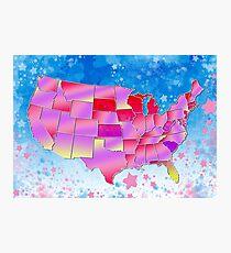 united states map 3 Photographic Print