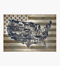 unted states map 4 Photographic Print