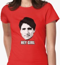 Trudeau: Hey Girl Womens Fitted T-Shirt
