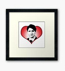 Justin Trudeau Heart Framed Print