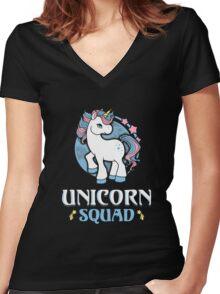Magic Fantasy Unicorn Women's Fitted V-Neck T-Shirt