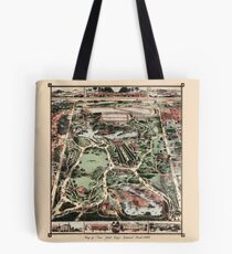 Antique map of NYC Central Park from 1860 Tote Bag