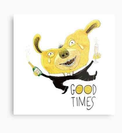 Good Times Golden Dog Celebration Metal Print