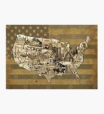 united states map 5 Photographic Print