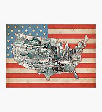 united states map 6 Photographic Print