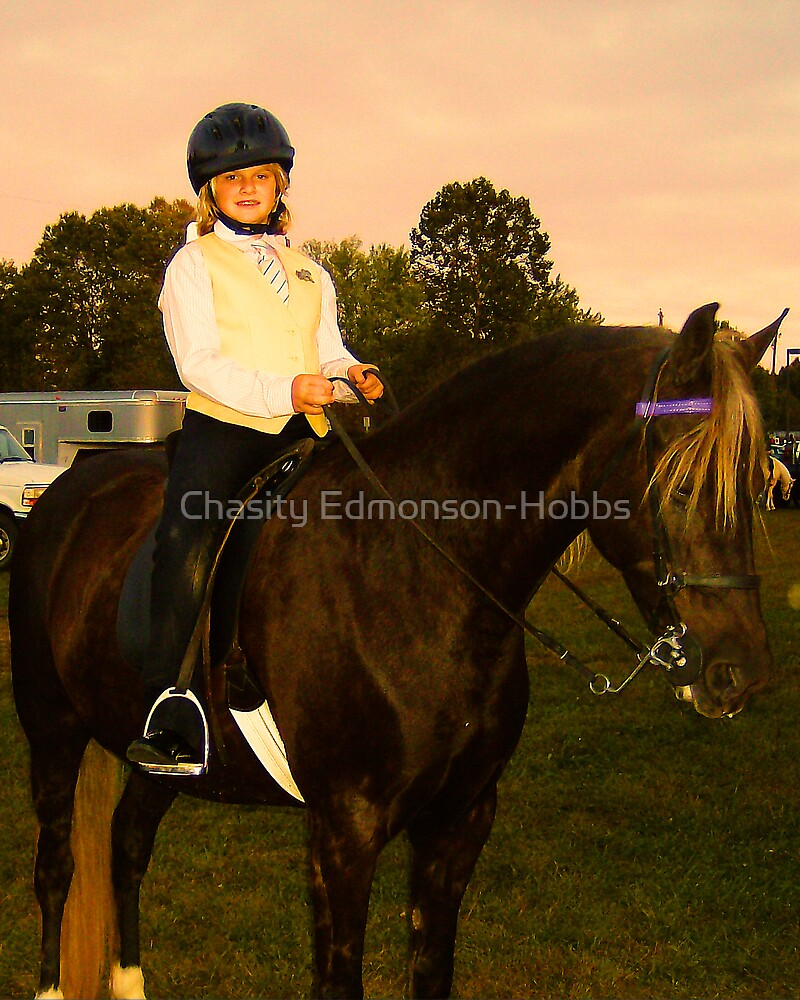 Young Jockey in color by Chasity Edmonson-Hobbs