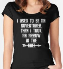 I Used To Be An Adventurer, Then I Took An Arrow In The Knee Women's Fitted Scoop T-Shirt
