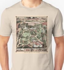 Antique map of NYC Central Park from 1860 Unisex T-Shirt