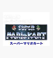 Mario Kart Logo Photographic Print