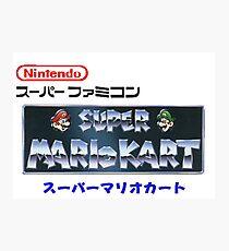 Mario Kart logo v2 Photographic Print