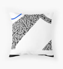 Made in China SB x Superme White/Cement - Pop Art, Sneaker Art, Minimal Throw Pillow