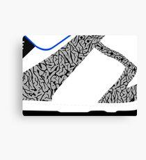 Made in China SB x Superme White/Cement - Pop Art, Sneaker Art, Minimal Canvas Print