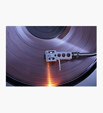 spinning vinyl Photographic Print