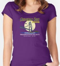 Audubon Bay Bridge Preservation Society Women's Fitted Scoop T-Shirt