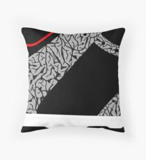 Made in China SB x Superme Black/Cement - Pop Art, Sneaker Art, Minimal Throw Pillow