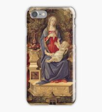 Botticelli - Madonna With Saints (1485) iPhone Case/Skin