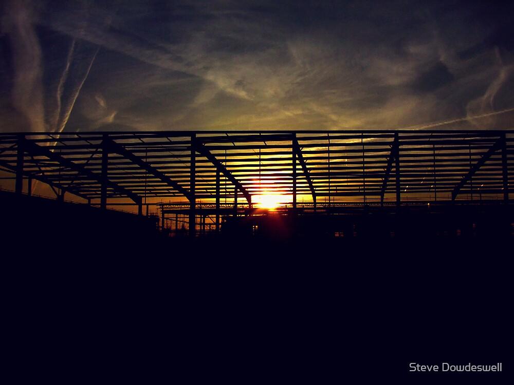 Sunrise Through Steel by Steve Dowdeswell