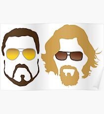 The Dude and Walter Poster