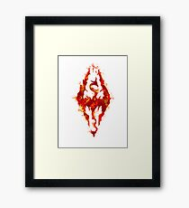 Fus ro dah - Fire Framed Print