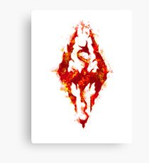 Fus ro dah - Fire Canvas Print