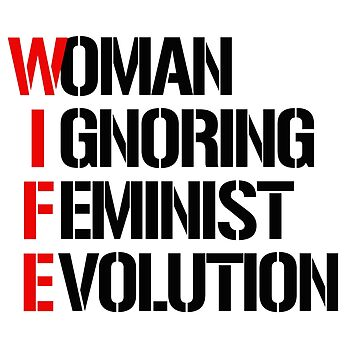 WIFE: Woman ignoring feminist evolution by partyfarty
