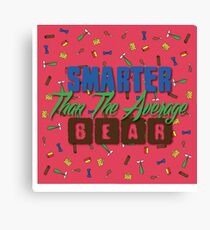Smarter Than The Average Bear Canvas Print