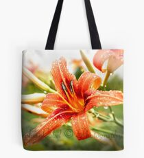 Wet Lily Tote Bag