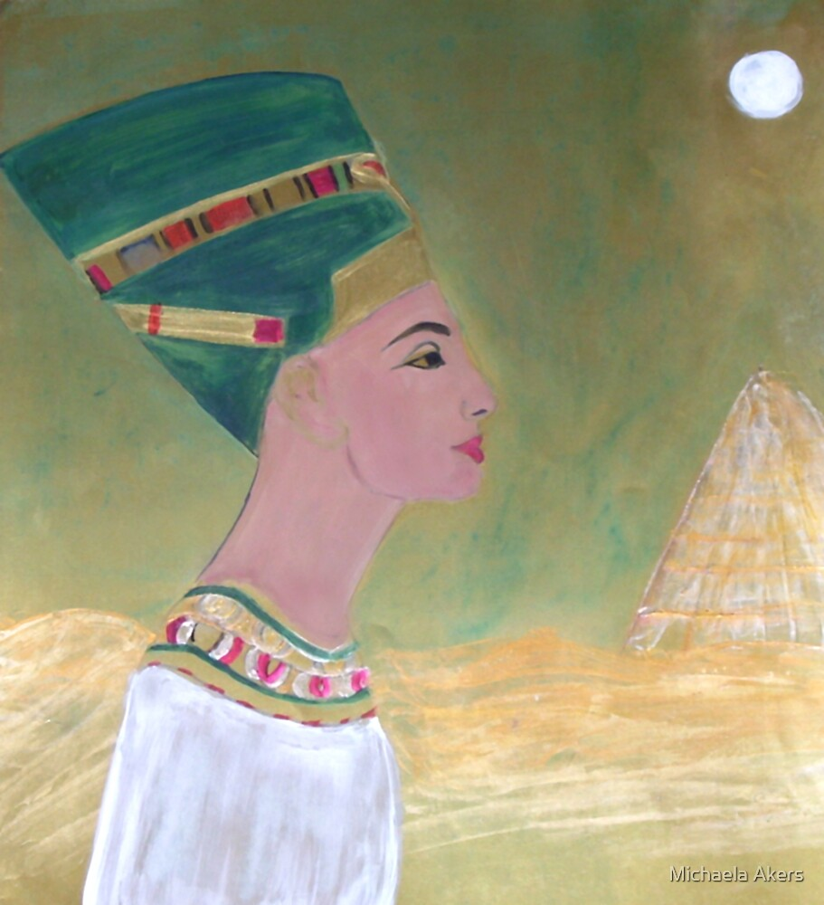 Nefertiti and the Golden Pyramid by Michaela Akers