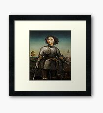 Joan Of Arc In Armour Framed Print
