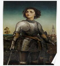 Joan Of Arc In Armour Poster