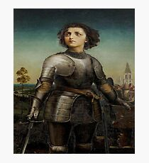 Joan Of Arc In Armour Photographic Print